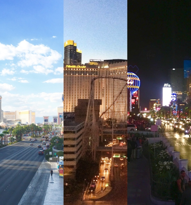 Parts of the strip at different times of day