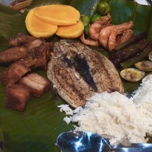 Variety of Filipino food