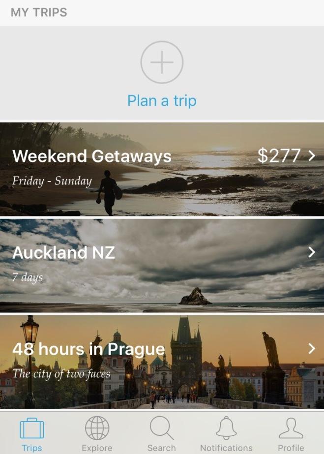 Hitlist app layout