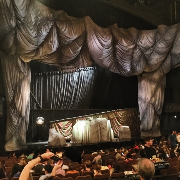 The stage ready for Phantom of the Opera