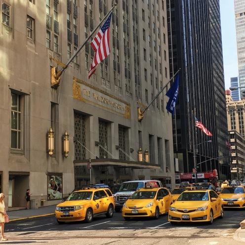 Outside the Waldorf Astoria