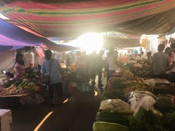 Market at sunrise